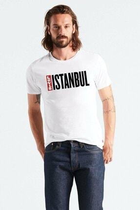 Levi's Levıs Erkek Istanbul Baskılı Beyaz T-shırt 80741-0026