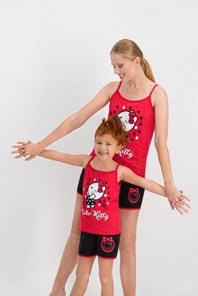 Hello Kitty Askılı Pijama Takımı ( Anne Kız Ayrı Ayrı Kombin Yapılabilir )