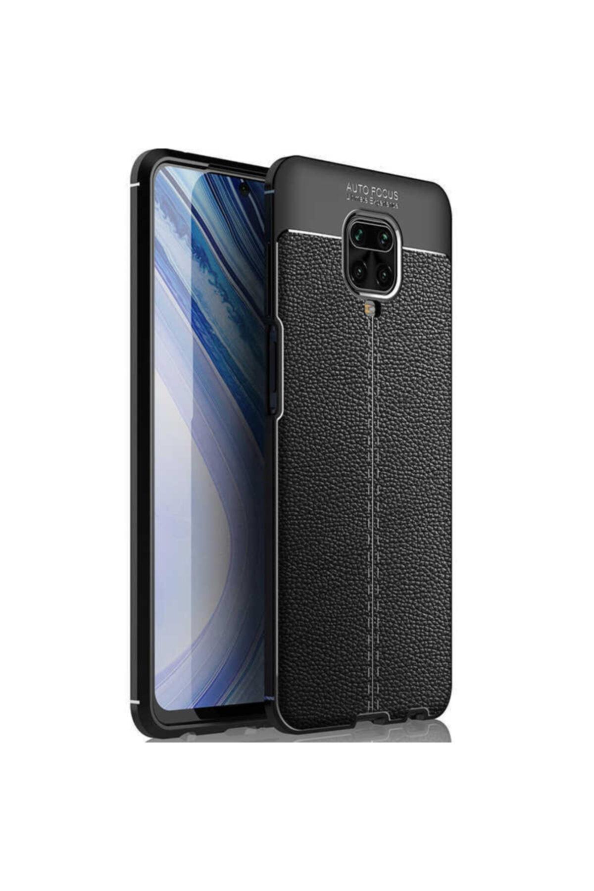 Telefon Aksesuarları Redmi Note 9 Pro Deri Görünümlü Silikon Kılıf 1