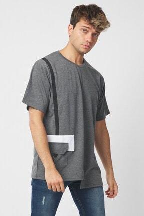 Jack Morino Cep Detaylı Oversize Erkek Tişört 2088