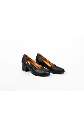 Venüs Kadın Siyah Topuklu Ortopedik Ayakkabı