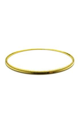 Bijuta ALTIN KAPLAMA 22 Ayar Altın Kaplama Ajda Bileziği Göz Alıcı Işçilik Ayırt Edilmez Çap Boyu 6