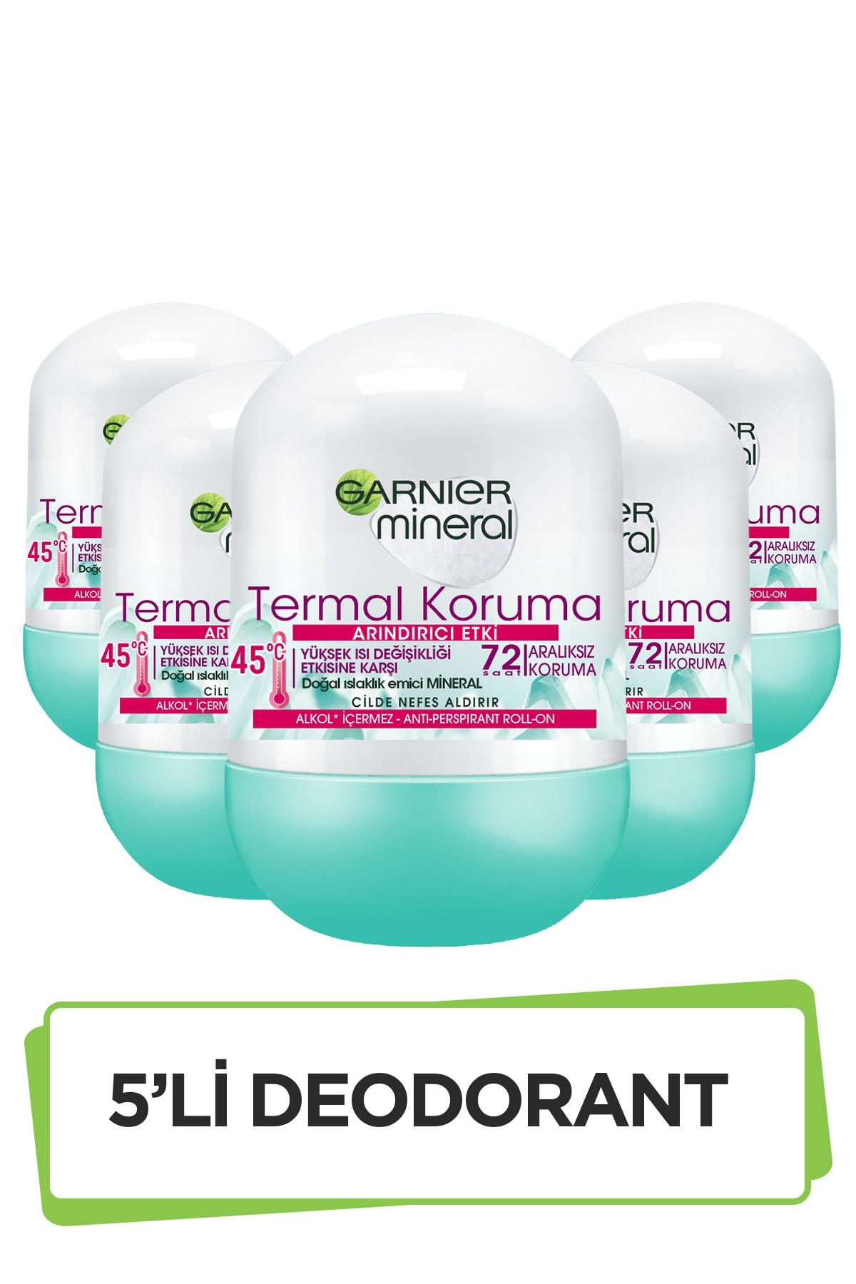 Garnier 5'li Garnier Mineral Termal Koruma Roll-On Deodorant Seti 36005419289305 1