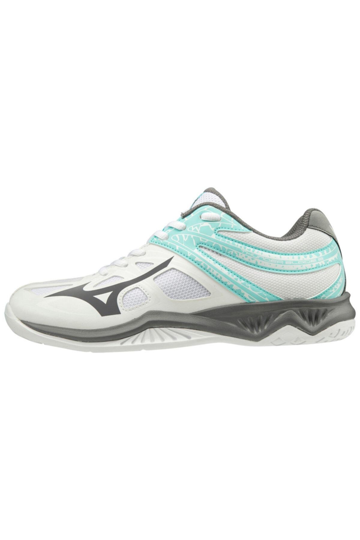 MIZUNO Unısex Beyaz Gri Voleybol Ayakkabısı 1