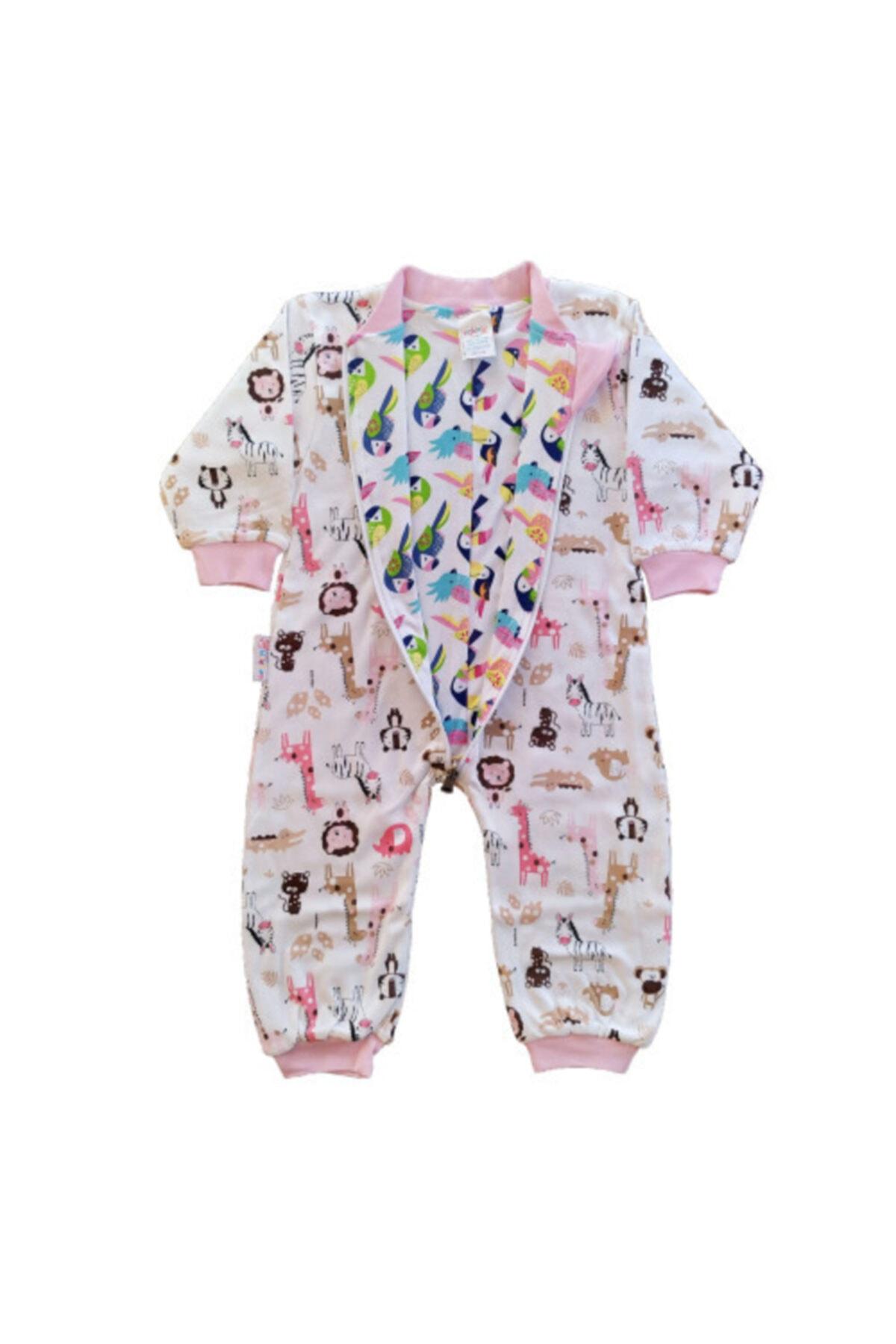 Seçkin Baby Şkr Çift Yön Desenli Ve Kullanımlı %100 Pamuklu Kız Ve Erkek Bebek Çocuk Uyku Tulumu 2