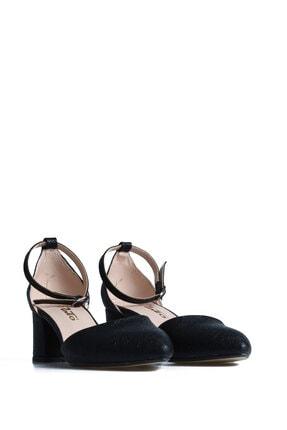 PUNTO 595013 Kadın Siyah Günlük Topuklu Ayakkabı