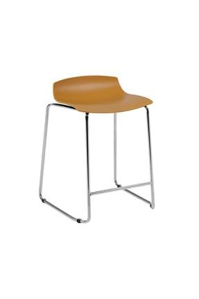 Papatya X-treme Sled Pro Bar Otel Restoran Kafe Mutfak Koyu Sarı Krom Sandalye