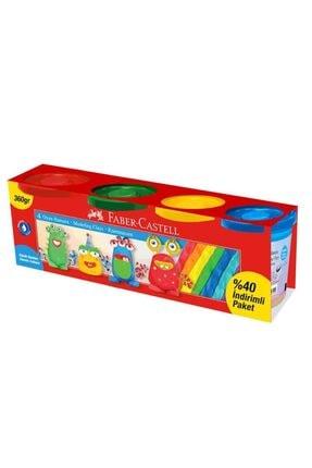Faber Castell Faber Oyun Hamuru Klasik Renkler 360 Gr 4 Renk