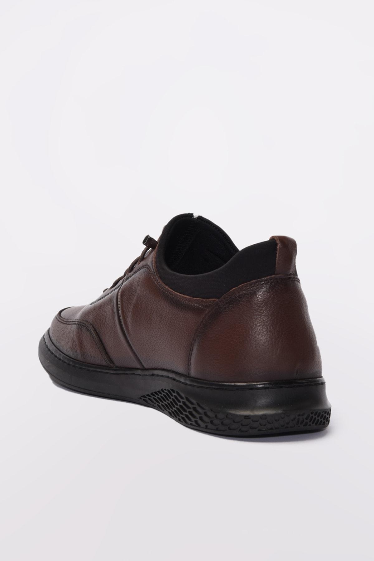 Yaya  by Hotiç Hakiki Deri Kahve Erkek Sneaker 02AYY189610A480 2