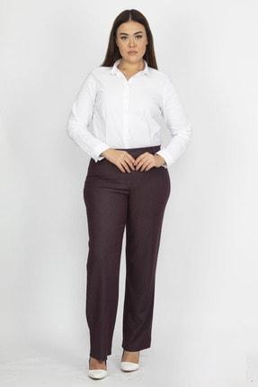 Şans Kadın Mürdüm Klasik Pantolon 65N19372