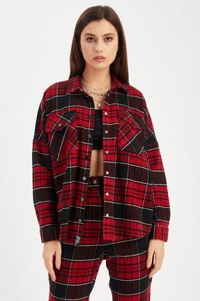 Manche Kadın Kırmızı Gömlek   Mk21w162943