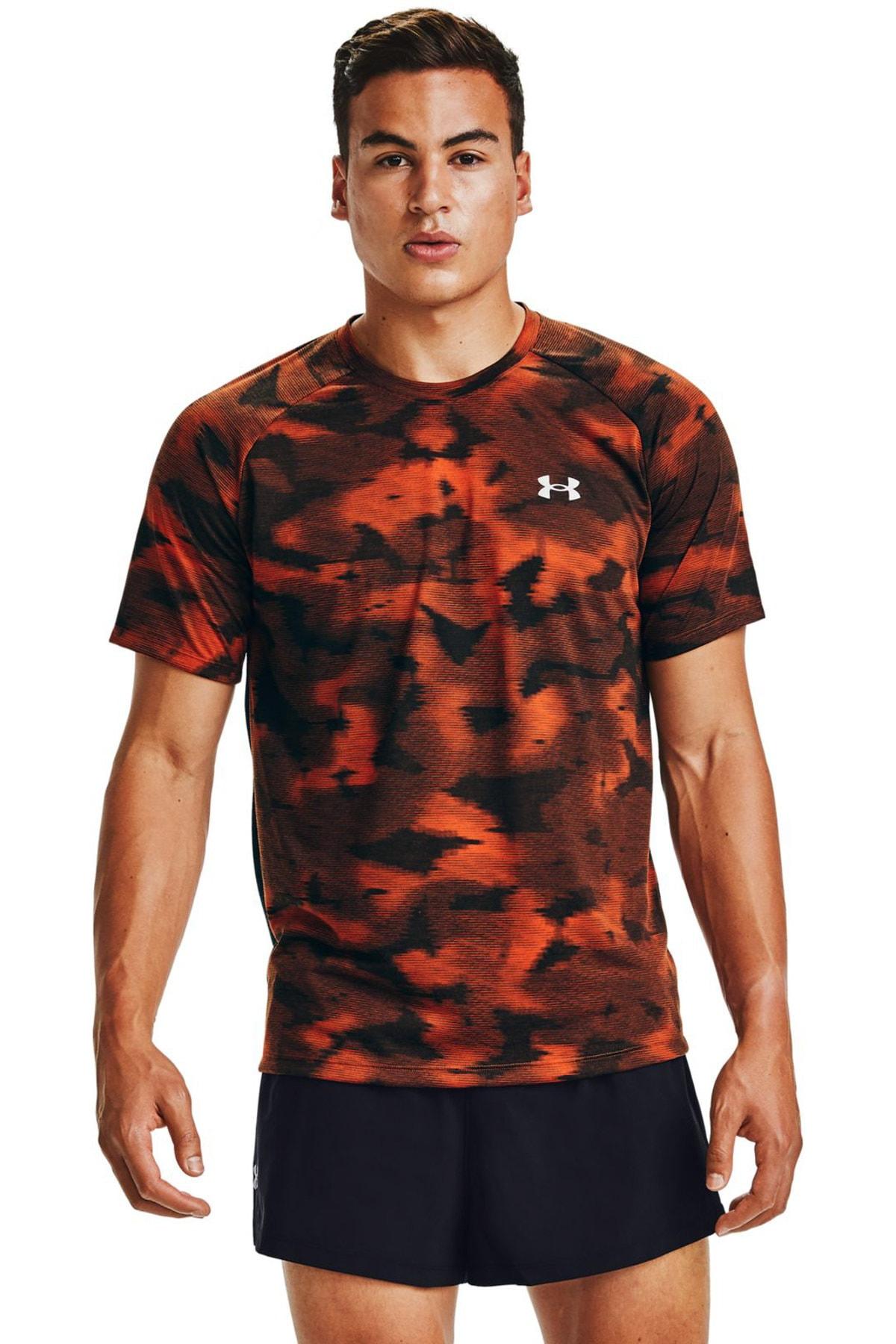 Under Armour Erkek Spor T-Shirt - M Streaker 2.0 Inverse Ss - 1356176-830 1