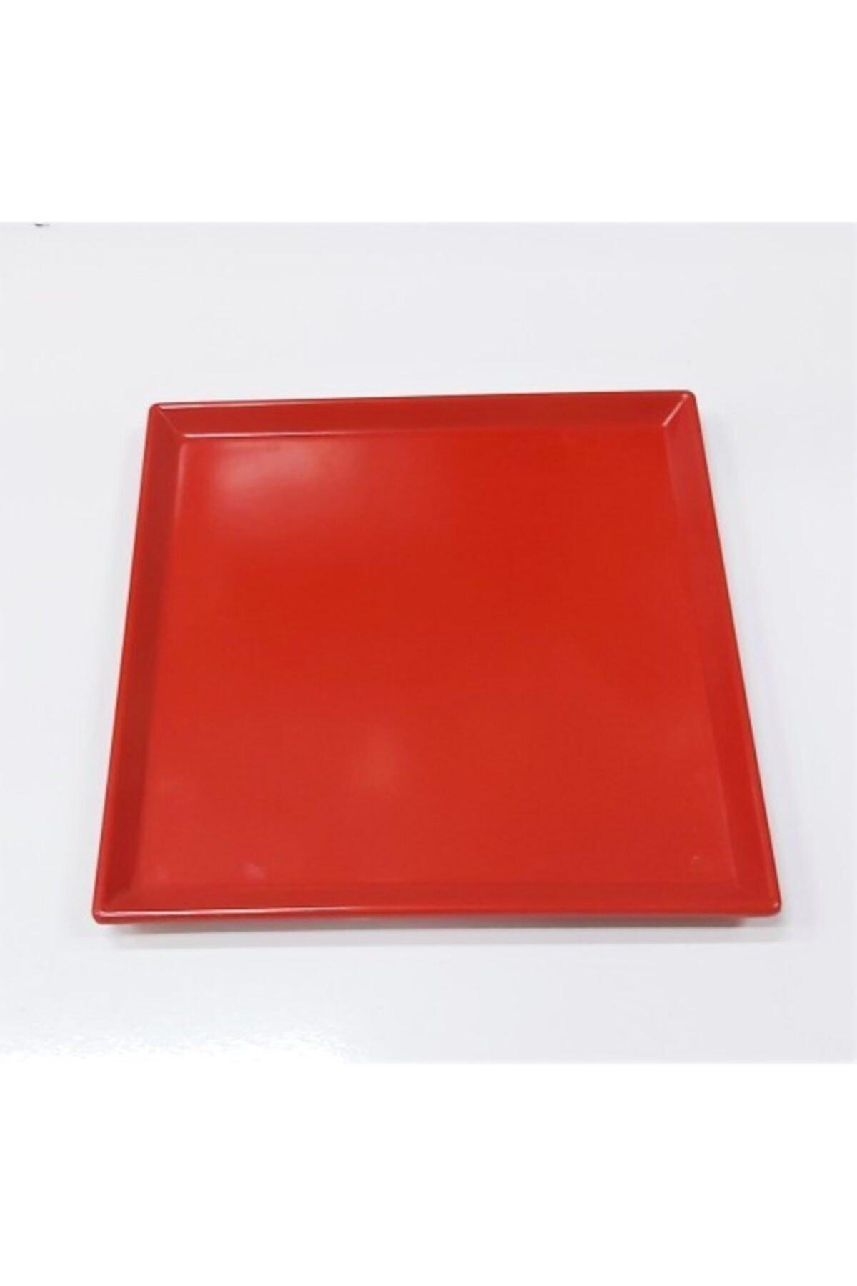 Evren 20*20cm Kırmızı Sunum Tabağı Thermo Melamin 2