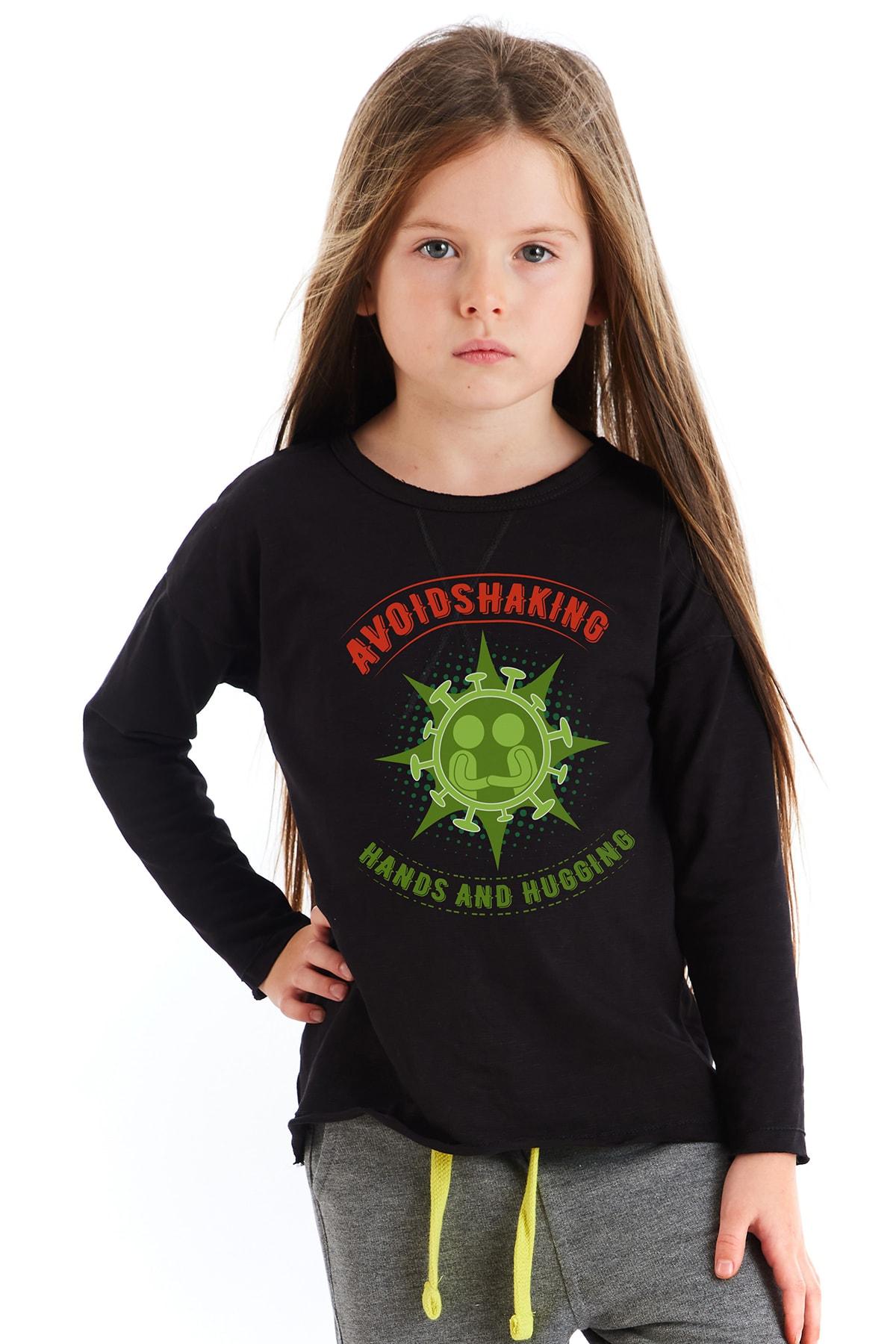 Colorinas Çocuk Siyah Baskılı Tshirt 2