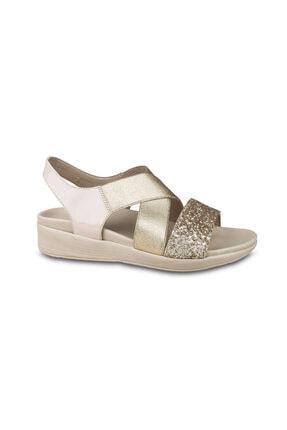 Ceyo Kadın Bej Sandalet 9962-6