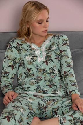 STRAWBERRY Kadın Desenli Pamuklu Viskon Pijama Takim
