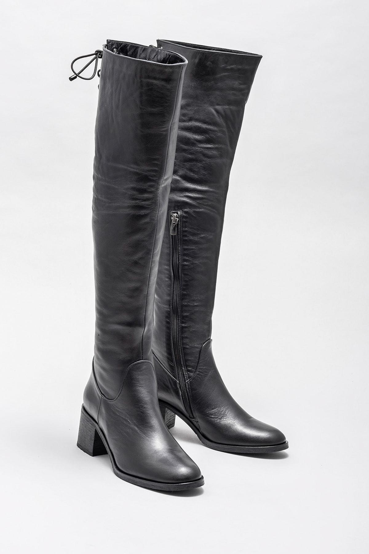 Elle Shoes Kadın Karons Sıyah Çizme 20KRE2706 2