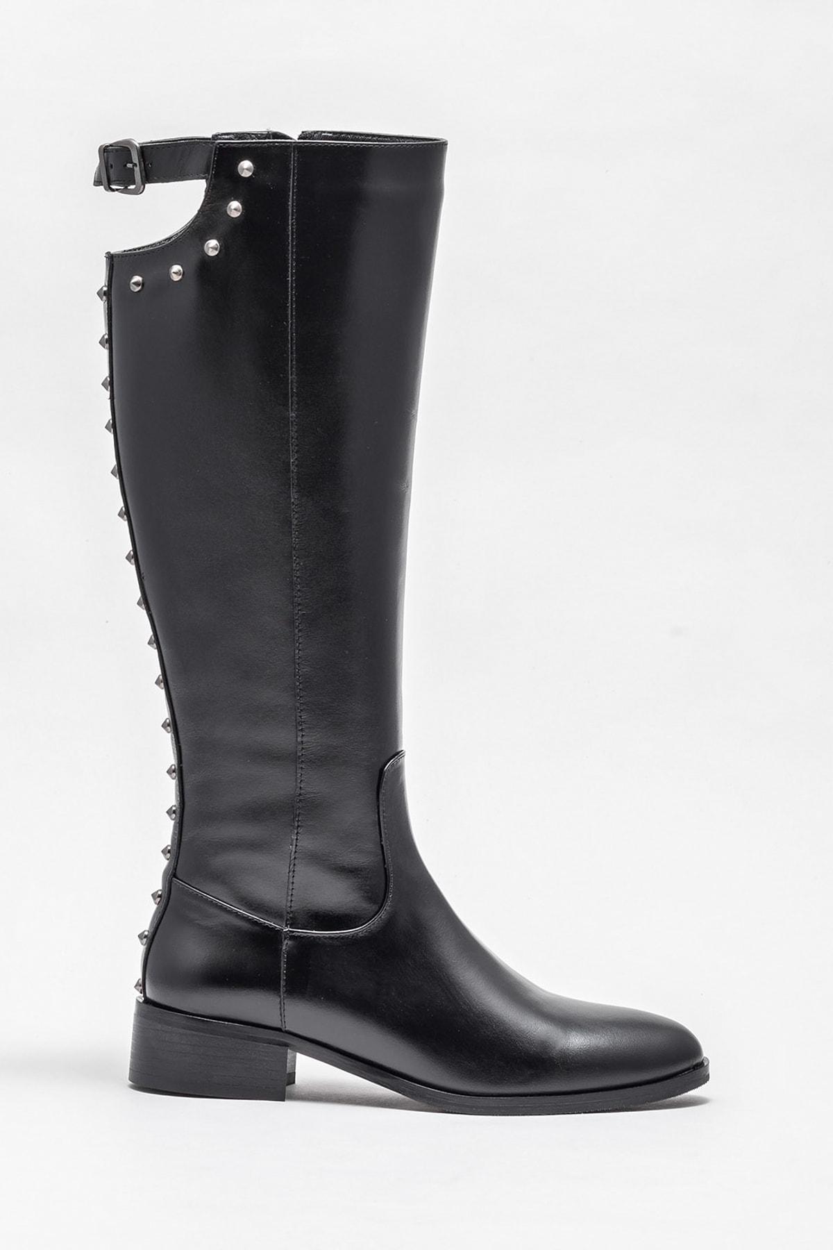 Elle Shoes Kadın Branca Sıyah Çizme 20K007 1