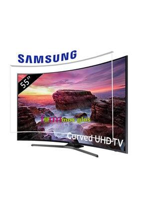 Formmaxglas Samsung 55''(140 Ekran) Curved Led Tv Ekran Koruyucu- Tv Ekran Koruma Camı-özel Üretim-3 Mm Kalınlık