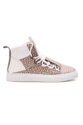 Pegia Kadın Gri Hakiki Deri Sneaker La1315