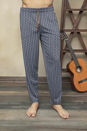 KLY Erkek Lacivert Tek Alt Likralı Jakarlı Çok Rahat Pijama Altı