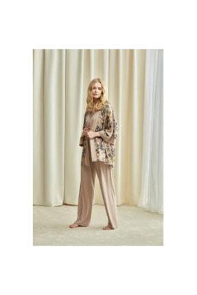 Penyemood Kadın Pembe Pijama Takımı 3'lü Xl 1729