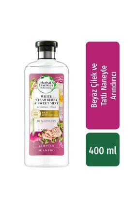 Herbal Essences Şampuan Arındırıcı Beyaz Çilek Ve Tatlı Nane 400 Ml