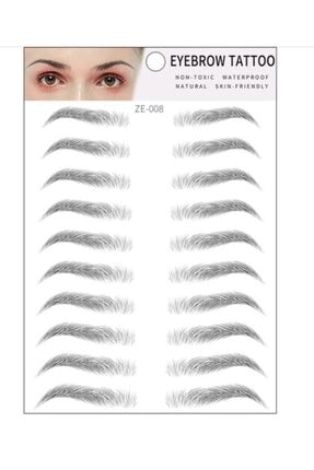Eyebrowz Kaş Dövmesi Sticker Kalıcı Suya Dayanıklı Doğal Kaş Kalemi Dövme