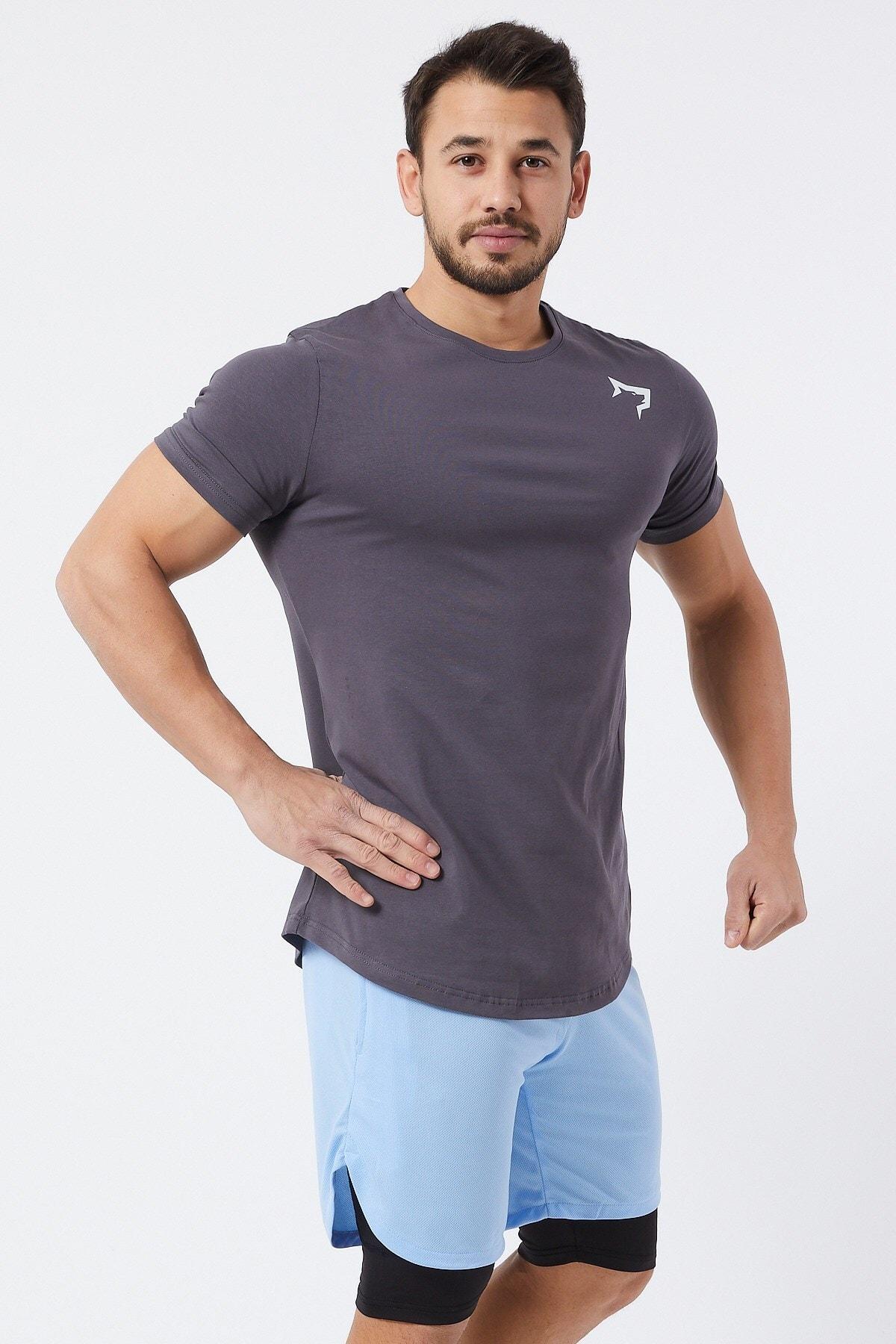 Gymwolves Spor Erkek T-Shirt | Füme | T-shirt | Workout Tanktop | 1