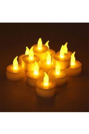 pazariz 24'lü Led Tealight Sarı Işık Mum