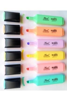 Masis Pastel Renk Fosforlu Işaretleme Kalemi 6 Lı Set