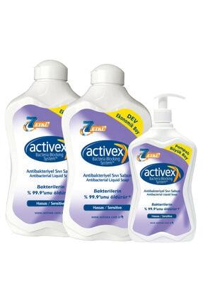 Activex Antibakteriyel Sıvı Sabun Hassas 1,5+1,5+700ml