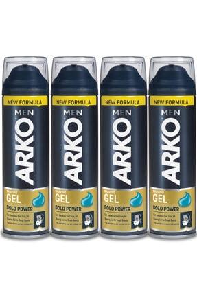 Arko Men Men Gold Power Tıraş Jeli 4x200ml
