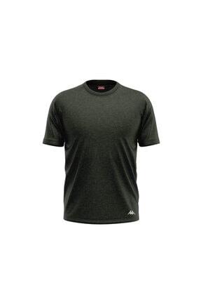Kappa Erkek Koyu Yeşil Lisen Ribana O Yakalı T-shirt