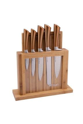 Emsan Matriks Rose Gold 7 Parça Bıçak Seti