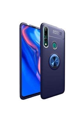 Huawei Teleplus Y9 Prime 2019 Kılıf Ravel Yüzüklü Silikon Lacivert