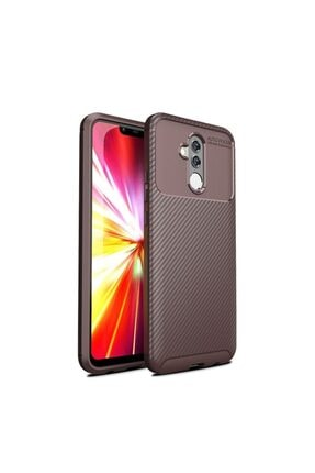 Huawei Teleplus Mate 20 Lite Ultra Soft Negro Karbon Silikon Kılıf Kahverengi