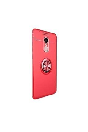 Huawei Teleplus Mate 10 Lite Ravel Yüzüklü Silikon Kılıf Kırmızı + Nano Ekran Koruyucu