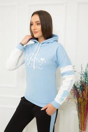 TREND Kadın Mavi Sweatshirt