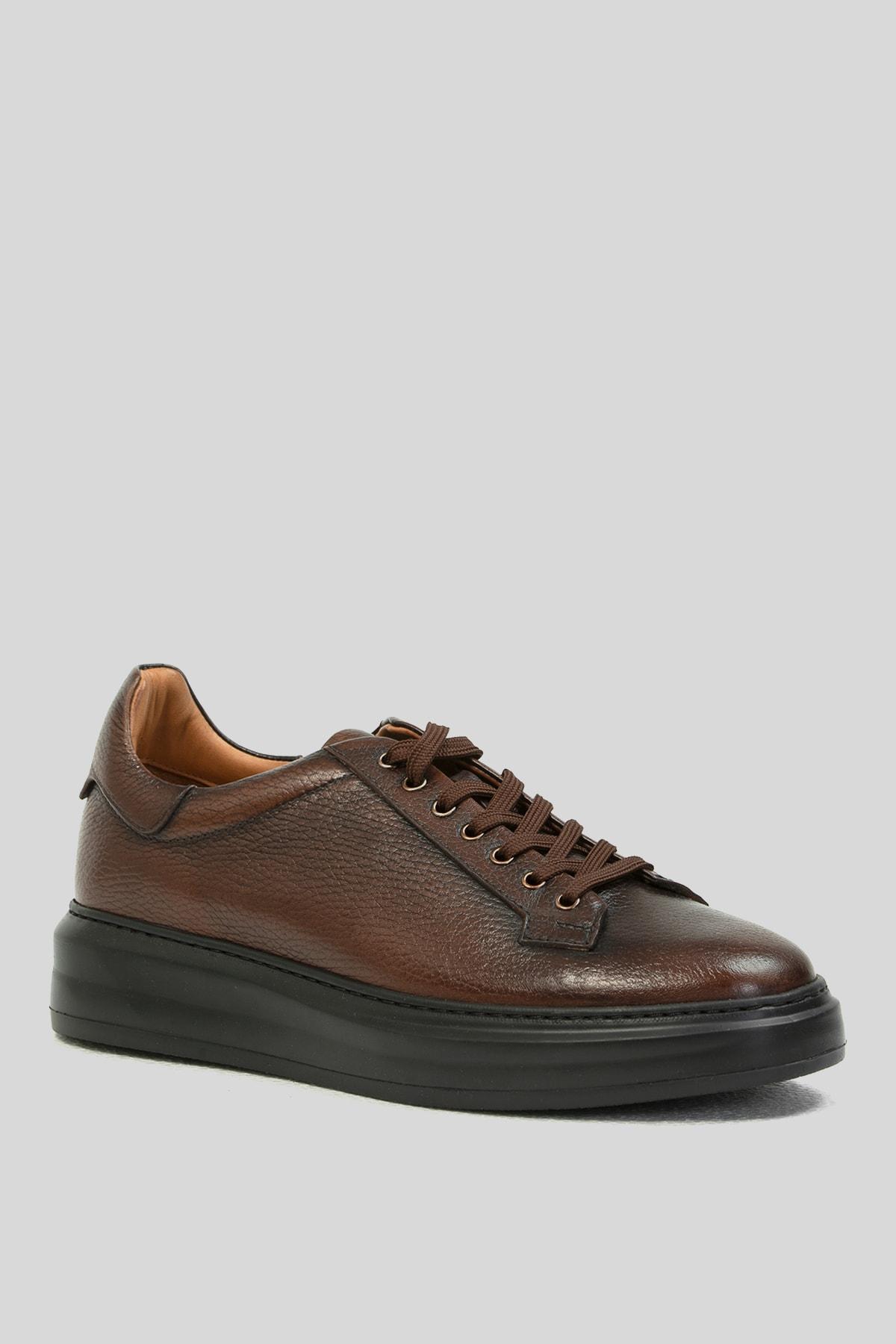 Lufian Erkek Kahverengi Deri Sneaker 2