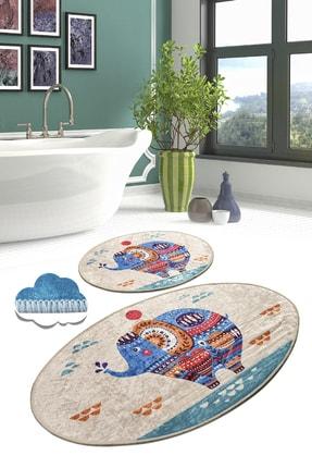 Chilai Home Etnic Djt 2'li Set Banyo Halısı, Paspas