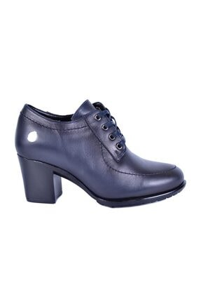 Mammamia Lacivert Kadın Topuklu Deri Ayakkabı