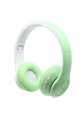 Teknoloji Gelsin Kablosuz Mikrofonlu Bluetooth Kulaküstü Yeşil Kulaklık
