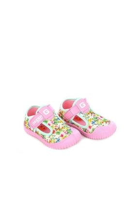 GEZER 03043 Yeşil Pembe Keten Yazlık Çocuk Spor Ayakkabı