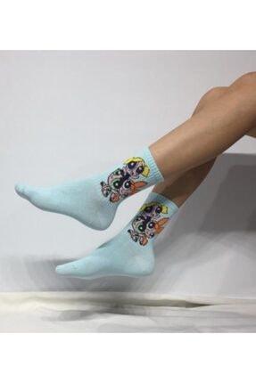 ADEL ÇORAP Kokulu Unisex Powerpuff Girls Desenli Kolej Çorabı