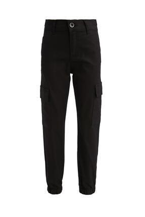 DeFacto Kız Çocuk Siyah Kargo Cepli Jogger Pantolon