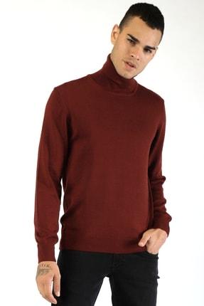 Twister Jeans Erkek Bordo Tam Balıkçı Kazak 3623