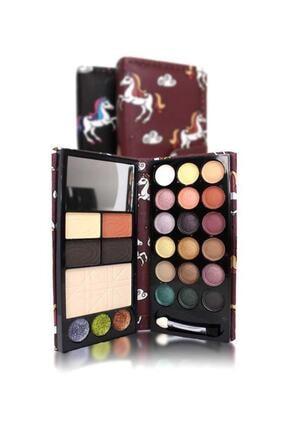 Makeuptime Far Allık Highlighter Aynalı 2 Katlı Cüzdan Set