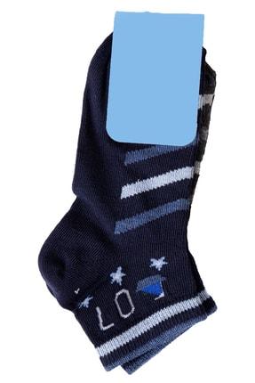 Zafoni Erkek Çocuk Lacivert Baskılı  Çorap