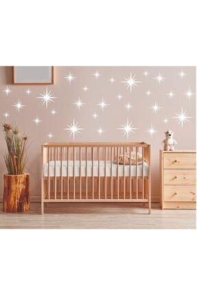 LUPUS Yıldız Duvar Stiker Sticker Çocuk Odası Bebek Odası Salon Mutfak Duvar Kağıdı Sticker (110 Adet)